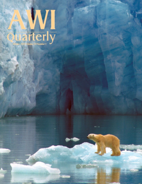 Winter 2010 AWI Quarterly Cover - Photo by Rinie Van Meurs/Foto Natura/Minden Picture