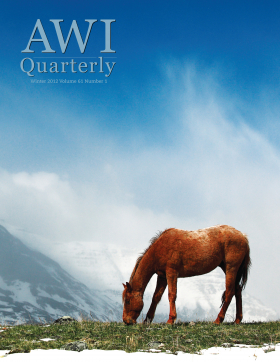Winter 2012 AWI Quarterly Cover - Photo by Todd Klassy