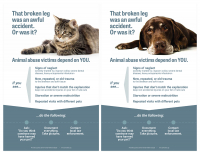Posters for Veterinarians on Animal Abuse Covers