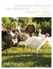 """Free Range"" Product Labels Report Cover"